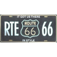 "Route 66 Collectable Novelty Licence Plate 12"" x 6"" RTE 66"