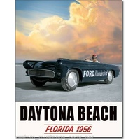 Ford Thunderbird – Daytona Beach Florida – Large Metal Tin Sign 31.7cm X 40.6cm Genuine American Made