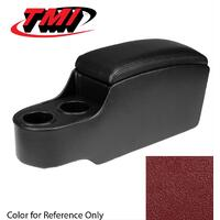 TMI Center Console Pony Style with Factory Console - Dark Red 1966 - 1967