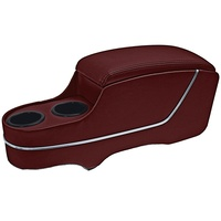 TMI Center Console Pony Style Deluxe - Dark Red Maroon 1968
