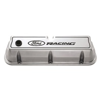 Ford Racing Logo Die-Cast Alloy Valve Covers Polished 289 - 351w