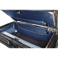 1964 - 1966 Ford Mustang Fastback Trunk Kit Sport II Blue Vinyl with Black Carpet