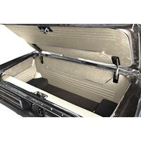 1964 - 1966 Ford Mustang Fastback Trunk Kit Sport II White Vinyl with Black Carpet