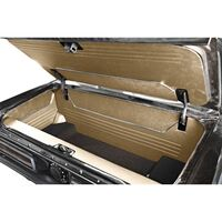 1964 - 1966 Ford Mustang Fastback Trunk Kit Sport II Parchment Vinyl with Black Carpet