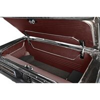 1964 - 1966 Ford Mustang Fastback Trunk Kit Sport II Dark Red Vinyl with Black Carpet