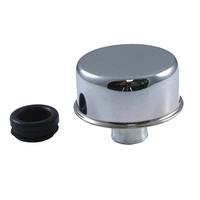 Chrome Oil Breather Cap Push In with Grommet