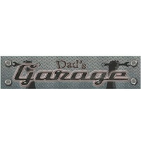 "Metal Tin Street Sign Dad's Garage 24"" x 5"""
