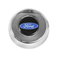 Grant Horn Button Chrome Ford Logo Classic & Challenger Wheels