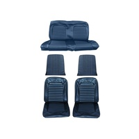 1964 - 1965 Mustang Full Set Coupe Upholstery (Standard, Blue)