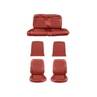 1964 - 1965 Mustang Full Set Coupe Upholstery (Standard, Bright Red)