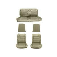 1964 - 1965 Mustang Full Set Coupe Upholstery (Standard, Ivy Gold)