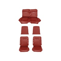 1964 - 1966 Mustang Convertible Pony Upholstery (Bright Red)