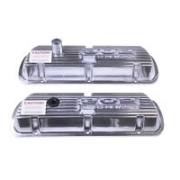 Finned Aluminium Valve Covers 302 Powered By Ford Polished