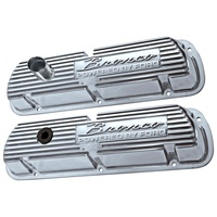 Finned Aluminium Valve Covers Bronco Powered By Ford Polished