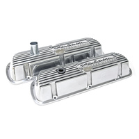 Finned Aluminium Valve Covers Falcon Powered By Ford Polished