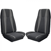 1971 - 1973 Mustang Mach 1 Full Set Upholstery (Black/Silver)