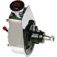Borgeson Power Steering Pump, Chrome - GM Pressure