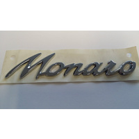 Genuine Holden Monaro Badge, Chrome 1/4 Panel Emblem V2 VY VZ