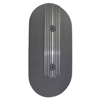 Thunderbird Oval Air Cleaner Top Plate Finned Black