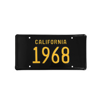 1968 California Novelty Licence Plate