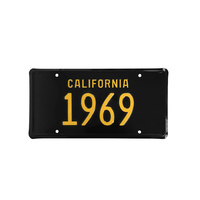 1969 California Novelty Licence Plate