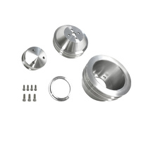 1965 - 1969 Mustang 289-302-351w Billet Pulley Kit Double Groove
