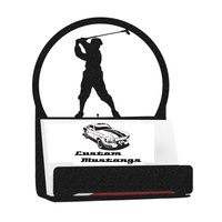Metal Business Card Holder - Golfer