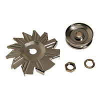 1965 - 1973 Mustang Alternator Fan & Pulley (4 Piece kit)