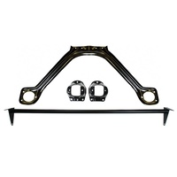 1964 - 1966 Mustang Monte Carlo Bar & Export Brace Kit (Straight Black)