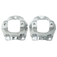 1964 - 1966 Mustang Chrome Upper Shock Tower Caps - Pair