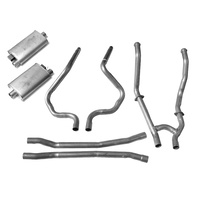 1964 - 1968 Mustang Dual Exhaust Kit (Complete system, standard manifolds w/ GT resonaters, no clamps or hangers)
