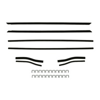 1964 - 1966 Mustang Window Channel Strip Set - Coupe & Convertible - Authentic