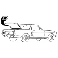 1964 - 1970 Mustang Trunk Weather Seal Coupe & Convertible