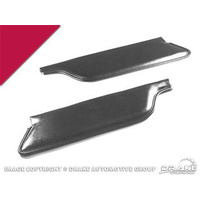 1964 - 1965 Mustang Convertible Sun Visors (Bright Red)
