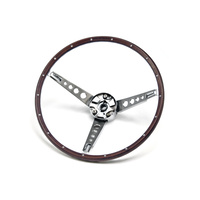 1967 Mustang Deluxe Steering Wheel Assembly (Woodgrain)