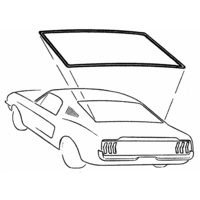 1967 - 1968 Cougar Rear Window Weather Seal