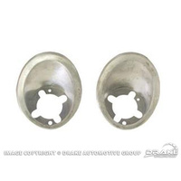 1967 - 1968 Mustang Parking Lamp Bezels (Pair)