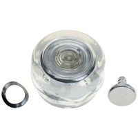 1968 - 1973 Mustang Window Crank Knob (Clear/Silver)
