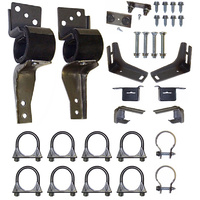 "1967 - 1969 Mustang Exhaust Hanger Kit (Dual exhaust mount kit 2"" - Original transverse muffler)"