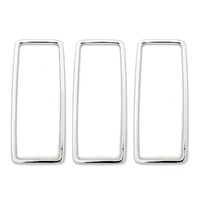 1969 Mustang Tail Light Trim (Stainless) Set of 3 - Ford Tooling