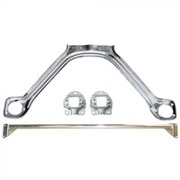 1969 - 1970 Mustang Monte Carlo Bar & Export Brace Kit (Straight Chrome)