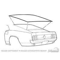 1969 - 1970 Mustang Rear Window Seal Fastback