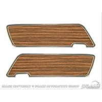 1969 - 1970 Mustang Deluxe Door Panel Trim (with Teak Inserts, Pair)