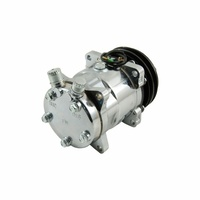 Sanden 508 Style A/C Compressor Chromed Housing, V Belt Pulley