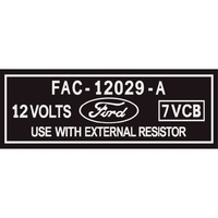 Ford Ignition Coil Decal (Silver Print On Clear) XR XT GT
