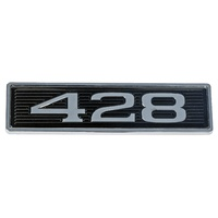 "1969 Mustang ""428"" Hood Scoop Emblem - Plastic Stick On"