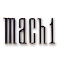 1970 Mach 1 trunk emblem, chrome