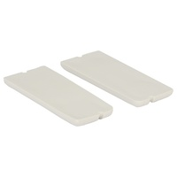 1969 - 1970 Deluxe Door Panel Pull Cup Inserts - White