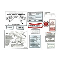 1965 Mustang 14 Piece Decal Kit