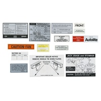 1969 Mustang 14 Piece Decal Kit